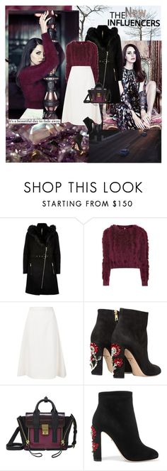 """""""In the sky with diamonds..."""" by thisiswhoireallyam7 ❤ liked on Polyvore featuring River Island, Topshop, Novis, Dolce&Gabbana, 3.1 Phillip Lim, lanadelrey, sweaterweather, fallsweaters and Fall2016"""