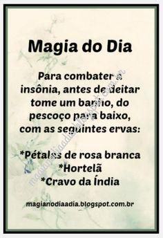 Magia no Dia a Dia: Magia do Dia: insônia Wicca Witchcraft, Pagan Witch, Wiccan, Magick, Witches, Reiki, Mystical World, Strange Magic, Shared Folder