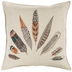 Coral & Tusk - Plumes Fan Pillow from MODERNFOLK Living