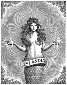 Mark Summers Collaborated with new Icelandic salt company Nordur to create an illustration that would be used for their branding. Gravure Illustration, Mermaid Illustration, Illustration Art, Real Mermaids, Mermaids And Mermen, Fantasy Mermaids, Vintage Mermaid, Mermaid Art, Mermaid Paintings