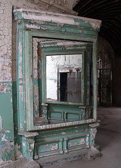 mirror in a prison