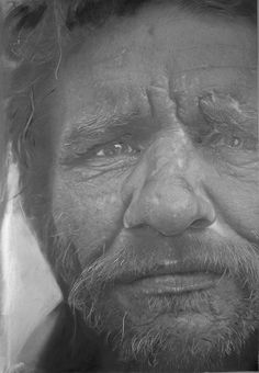 Paul Cadden - Hyper-realist Graphite And Chalk Drawings Realistic Pencil Drawings, Hyper Realistic Paintings, Chalk Drawings, My Drawings, Hyperrealism, Photorealism, Paul Cadden, Artist Pencils, Drawing Sketches