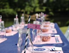 "Nautical / Birthday ""Pink and Navy Preppy Nautical Party"" 