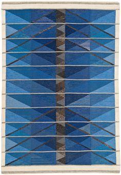 """Ingrid Dessau """"Blue Winter Tree"""" tapestry for Hemslöjden"""