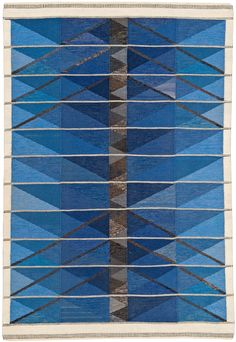 "Ingrid Dessau ""Blue Winter Tree"" tapestry for Hemslöjden"