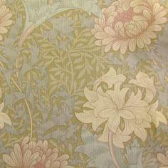 Wm Morris Chrysanthemum - beige, dusky pink
