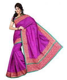 Purple Bhagalpuri Saree With Blouse 60069