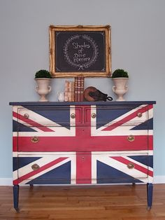 union jack furniture. Antique Traditional Union Jack Dresser Red, White And Blue- SOLD Union Jack Furniture