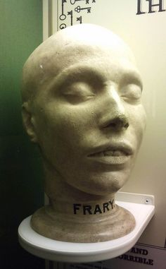 death mask of Elizabeth Friary by lisa temple-cox, via Flickr