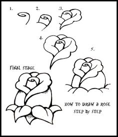 How To Draw A Rose: Step By Step