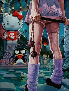 Hello Kitty vs Gogo Yubari