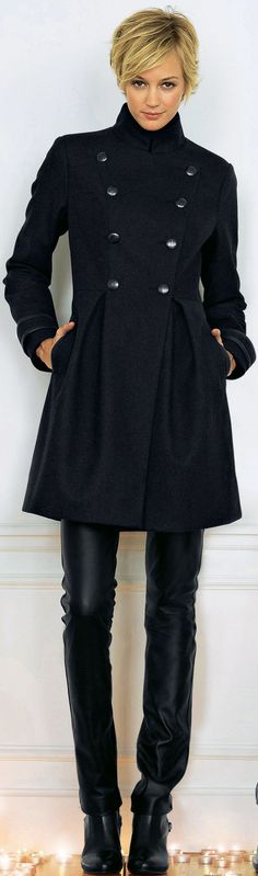 Hot coats for women over 40 - this coat is from La Redoute - read article - http://boomerinas.com/2013/11/06/trendy-coats-for-fall-winter-mature-woman-seeking-cute-comfortable-jacket-for-long-term-relationship/ #PopularLadiesHairstyles