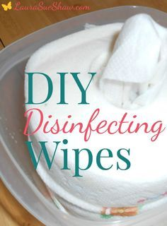 These easy DIY disinfecting wipes are something I always keep around the house for a quick clean up. You won't believe how simple they are to make!