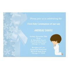 Sold this #flowers #holycommunion boy invitation to NY. Thanks for you who purchased this.