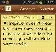 fireproof movie reflection