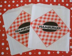 Hamburger Bags 25 CtGlassine Bags Food Bags by DimeStoreBuddy, $3.50