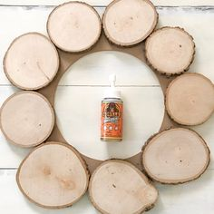Most recent Photo wood Wreath Strategies There is so many things to preoccupy build fans with The holiday season however unquestionably doing Christmas Wood Crafts, Farmhouse Christmas Decor, Fall Crafts, Holiday Crafts, Christmas Decorations, Fall Dining Table, Wood Slice Crafts, Fall Fireplace, Xmas