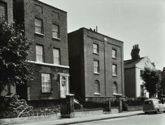 View of front elevations of houses at Cobourg Road, Camberwell. Semi Detached, Detached House, South London, Old Pictures, Nostalgia, Multi Story Building, Black And White, Park, Street