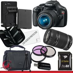 Buy Cheap Canon EOS Rebel T3 Digital Camera and 18-55mm & 55-250 IS II Lens Kit Package 2