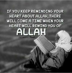 Remind your heart about Allah