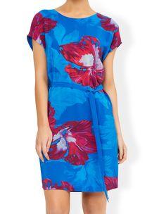 MONSOON Pippa Print Silk Front Dress.  UK18 EUR46  MRRP: £89.00GBP - AVI Price: £65.00GBP
