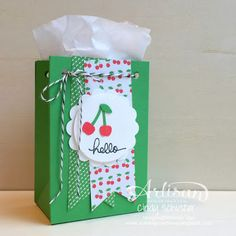 Say hello to a few NEW goodies like the Gift Bag Punch Board! ~ Cindy Schuster