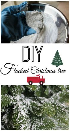 Easiest DIY tree flocking ever - great for wreaths, too! | Epbot ...