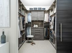 Inspired Closets designs & installs custom walk-in closet organizers. Let our Inspired Closets team create a functional, beautiful walk-in closet system just for you! Walk In Closet Small, Custom Walk In Closets, Custom Closet Design, Closet Designs, Wardrobe Design, Beautiful Closets, Walking Closet, Master Bedroom Closet, Bedroom Wardrobe