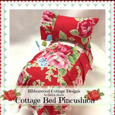 A sweet little cottage style bed that is really a pincushion. Very easy sewing and directions.
