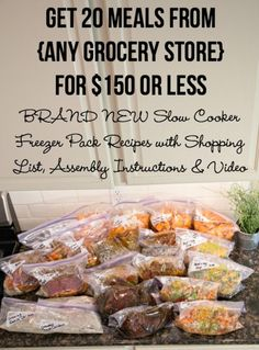 20 Meals for $150 at Any Grocery Store