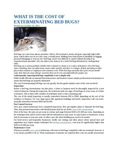 What is the cost of exterminating bed bugs