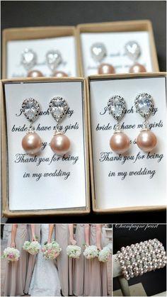 Wedding Jewelry Bridesmaid Gift Bridesmaid Jewelry Bridal Jewelry Swarovski  Pearl Drop Earrings Cubic Zirconia .Silver champagne wedding by thefabbridaljewelry on Etsy https://www.etsy.com/listing/165670768/wedding-jewelry-bridesmaid-gift