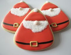Nosey Santa Claus Cookies from a Candy Corn Cutter | Make Me Cake Me