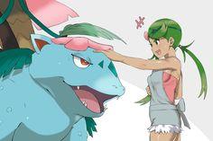 Mallow and mega Venusaur