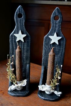Made to Order Primitive Candle Sconces by BishopsHollow on Etsy, $28.00