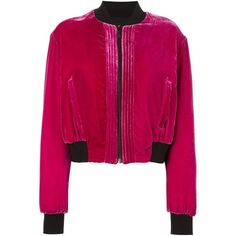 Marcelo Burlon County Of Milan 'Torrisimo' velvet bomber jacket (3.850 RON) ❤ liked on Polyvore featuring outerwear and jackets