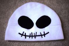 Anime Fleece Halloween Hat Skull SKELLINGTON  - Cosplay Character | HappiBoshi - Accessories on ArtFire