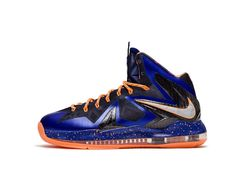 Authentic 579827-400 Nike LeBron X PS Elite Hyper Blue Pure Platinum-Blackened Blue-Bright Citrus Superhero