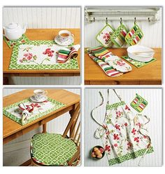 KITCHEN ACCESSORIES PATTERN / Full Apron i/ by WhatCameFirst, $6.99
