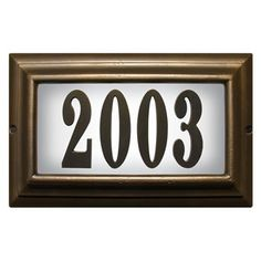 Edgewood Lighted Address Plaque House Sign Signs Lighting