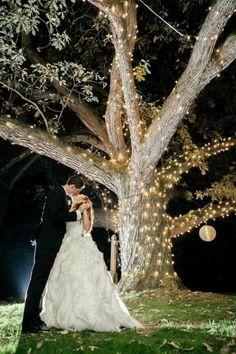 Moonlight Pennsylvania Wedding Under a Sparkling Tree at Aldie Mansion - MODwedding Pink Wedding Theme, Sparkle Wedding, Tree Wedding, Mod Wedding, Wedding Day, Wedding Arches, Wedding Themes, Wedding Flowers, Romantic Wedding Receptions