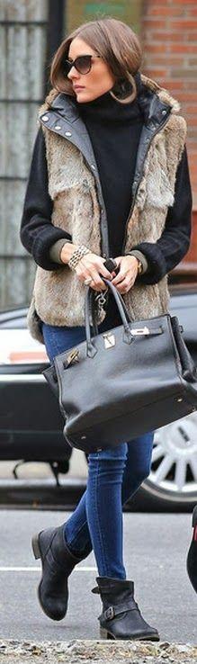 Sleeveless Winter Jacket With Skinny Jeans