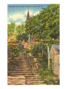 Natural  west virginia   Natural Stone Steps, Harper's Ferry, West Virginia