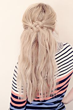 Celtic knot hairdo.
