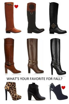 fall boots...tall, short,studded or quilted...love...here...
