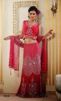 Coral Pink Designer Bridal Lehenga Choli | Saris and Things