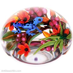 Blue Frog paperweight -Colin Richardson