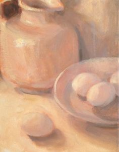 White on White w Eggs Demo 8x10 ORIGINAL  oil painting Margaret Aycock  #Impressionism