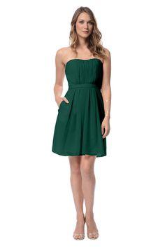 Dove & Dahlia Birdie Bridesmaid Dress in Emerald Green in Chiffon