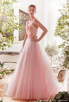 blumarine sposa 2019 bridal sleeveless thin strap sweetheart neckline  ruched bodice tulle skirt romantic pink a 47791c425f1